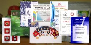 Награды международных и российских выставок и форумов
